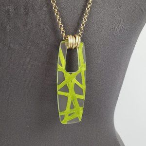Color By Amber Gold & Green Long Necklace